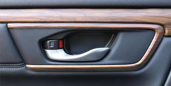 אחד סט עץ כרום להונדה CRV 2017 רכב פנים דלת ידית כיסוי Trims אביזרי עיצוב מכונית