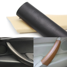 цена на 1pc Cow Leather Car Door Handle Protective Cover Trim For BMW X5 E70 X6 E71 2007 2008 2009 2010 2011 2012 2013