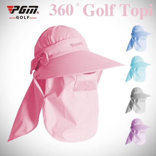 011421a628957 PGM Golf Sun Sunscreen Fishing Hat Women Female Ladies Summer Cap Outdoor  Sport Multifunction Quick Dry Ultralight Golf Caps