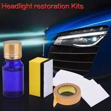 Automotive Restaurierung Kit Werkzeug Auto Kit Objektiv Sauber Wachs Lampe Flüssigkeit Polierer Papier Detaillierung