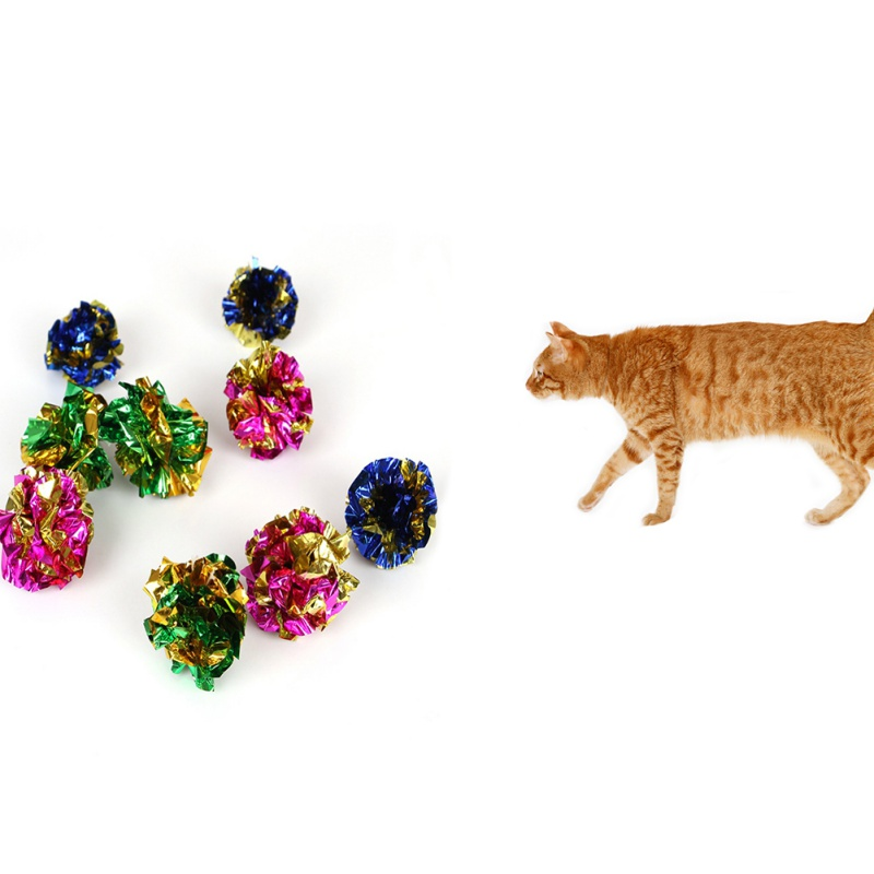 Colorful Cat Toy Crinkle Crackle Paper Rustle Sound Mylar Ball Cat Scratcher Scratching Fun Play Toys Products Hot