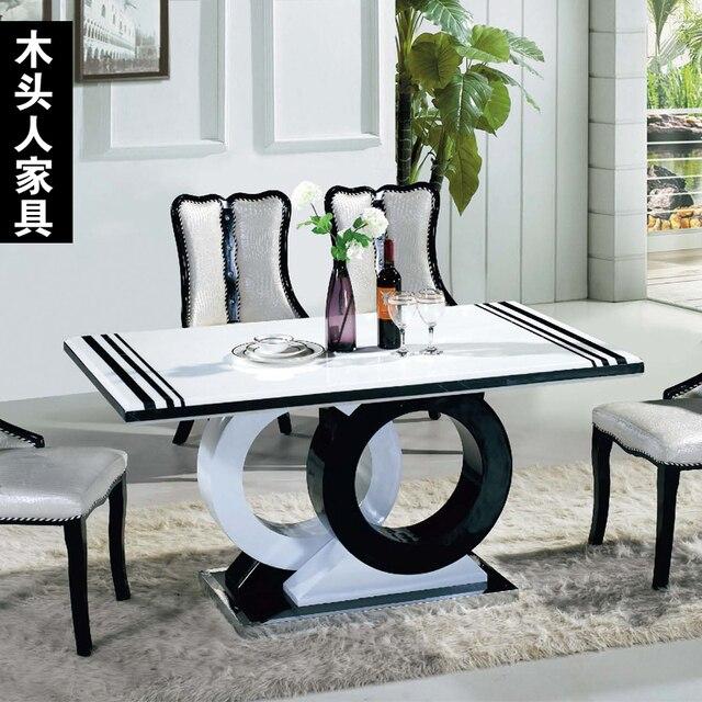 M veis de madeira de m rmore preto e branco longa ikea - Ikea runner tavolo ...