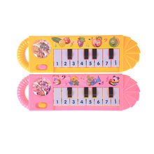 1 pc mode Mini Plastik Instrumen Keyboard Musik Elektronik Piano 5.5 cm * 18.5 cm Anak terbaik mainan(China)