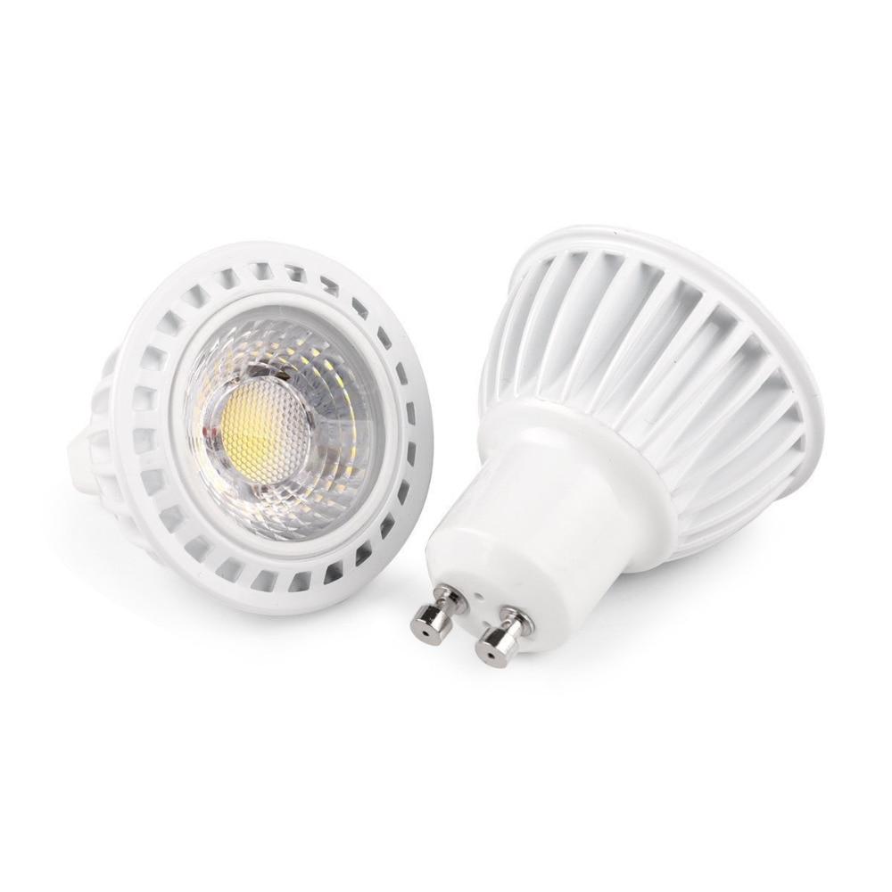 2pcs/lot white Exterior 5W GU10 cob led spotlight High Power 110V 220V 127V led Lamp,warm white light led Free Shipping