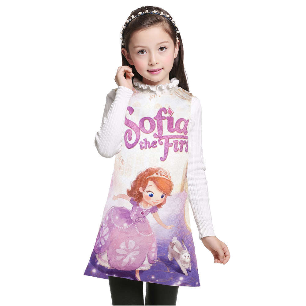Children Clothes Baby Girl Dress Princess Sofia Costume Girls Kids Birthday Party Fancy Purple Dress Baby Clothing for party girls europe the united states children princess long sleeved purple lace flower dress female costume kids clothing bow purple