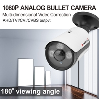 HD Security 1080P Bullet AHD Camera Fisheye Infrared 25m 180 Degree Viewing Software Correction 2MP AHD CCTV Camera for AHD DVR