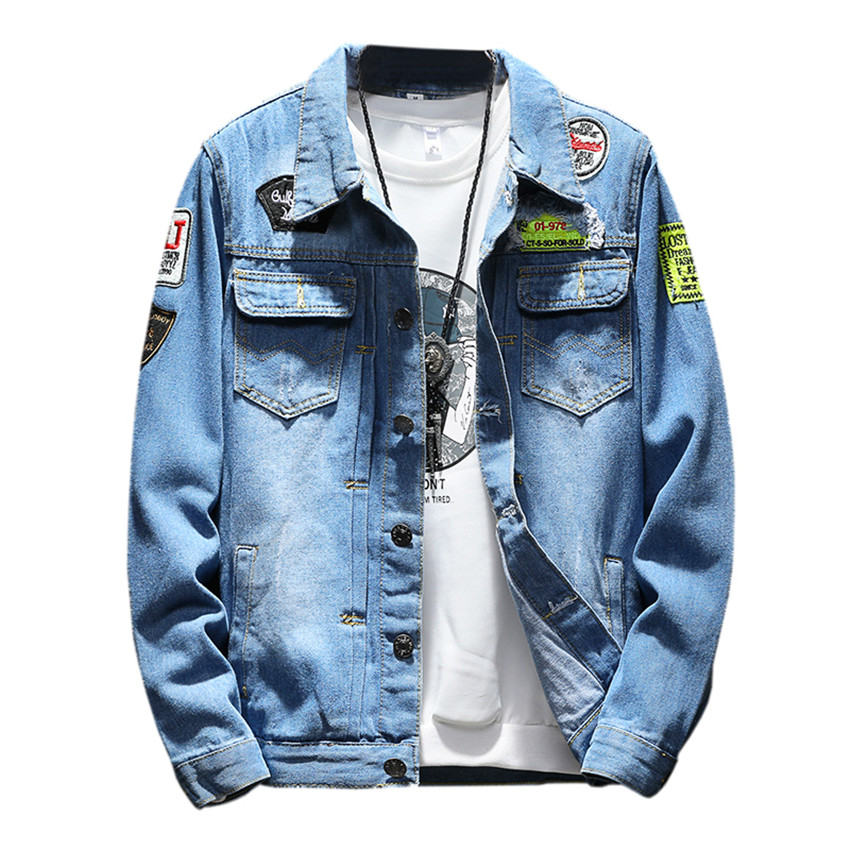 Mens Denim Jacket Plus Size coat 5XL Casual Bomber Jackets Men High Quality Man Vintage Jean Jacket Streetwear Chaqueta Hombre