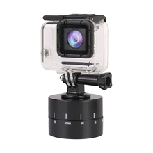 60min Time Lapse 360 degree Rotating Automatic Timer Tripod Head Photography Delay Tilt for GoPro 7 6 5 4 3 2 Black