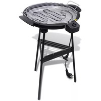 VidaXL Electric Barbecue Round Grid For Garden Electric Grill Pan Smokeless Non Stick Baking Tray Grill With A Tray
