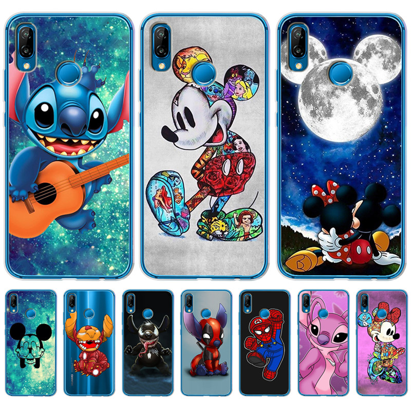 Luxury Stitch Mickey marvel For Huawei Mate 9 10 20 P8 P9 P10 P20 <font><b>P30</b></font> P Smart Lite Plus Pro <font><b>phone</b></font> <font><b>Case</b></font> Cover Coque Etui funda image