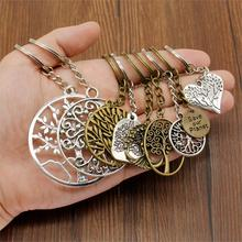 New Fashion Key Chain Key Ring Car Keychain Tree Of Life Key Pendant Handmade Gifts Souvenirs new fashion women heart rhinestone keychain pendant car key chain ring holder jewelry exquisite gifts m23