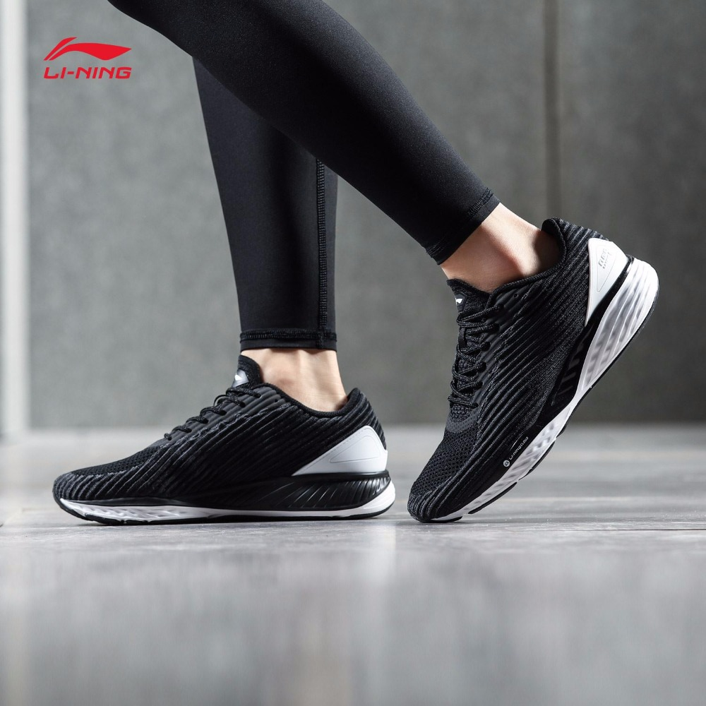 Li Ning Women LN CLOUD Cushion Running Shoes Mono Yarn LiNing Sports Shoes Breathable Footwear Sneakers