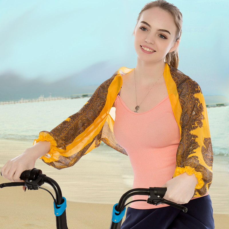 Women Summer Driving Cycling Scarves Shawl Poncho Wrap Sunscreen Scarf Sun Protection Shawl Beach Shawl Bikini Cover Chiffon