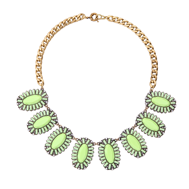 Chic New Hot Sale Guardian Angel New Design Women Vintage Resin Green Necklace