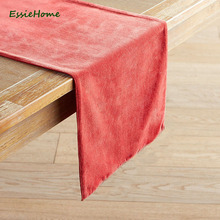 ESSIE HOME Coral Double Side Matte Velvet High End Table Runner Table Cloth Table Runner Placemat волшебный браслет наша игрушка магия 2 в ассортименте