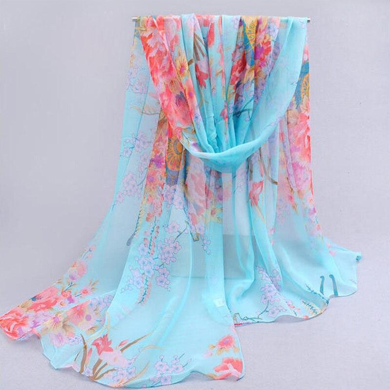 2017 горячие прекрасный цветок длинный мягкий шарфы шали обруча для элегантных женщин хан издание шарф шарфы платки бесплатная доставка fq021