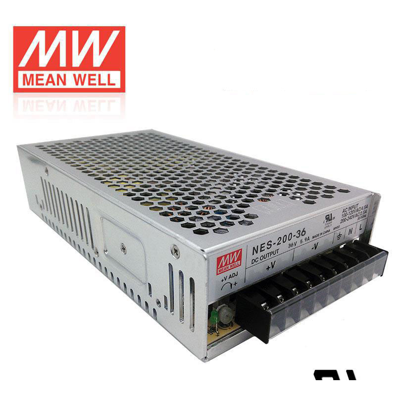 ФОТО Mean Well Switching Power Supply NES-200-36 200W 36V 5.9A Single Output For stepper Motor
