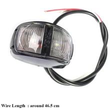 1 pieza 24V 0,6 W remolque blanco LED marcador lateral luces camión lámpara coche accesorio lámpara camión autocaravana indicador
