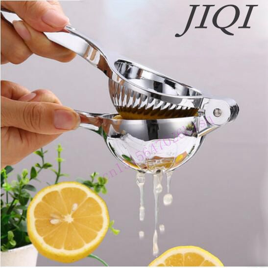 JIQI Manual juicer lemon clip stainless steel color orange juicer baby fruit juice upset pressure household pomegranate juice glantop 2l smoothie blender fruit juice mixer juicer high performance pro commercial glthsg2029