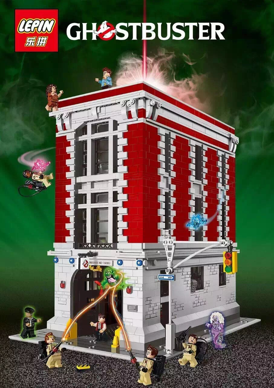 font b LEPIN b font 16001 Ghost death squads seriesModelFire headquarters ghost building Building Kits