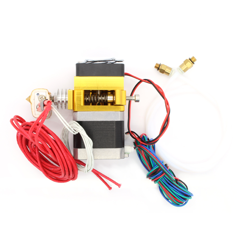 MK9 12V 0.4mm Nozzle 100K Thermistor NTC Extruder with 700mm Tube for 3D Printer MakerBot
