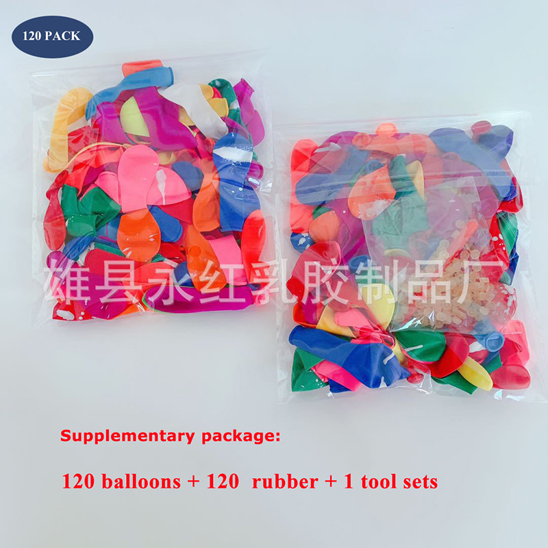 120Pcs Water Balloons Supplementary Package Toys Magic Summer Beach Party Outdoor Filling Water Balloon Bombs Toy for Kid Adult(China)