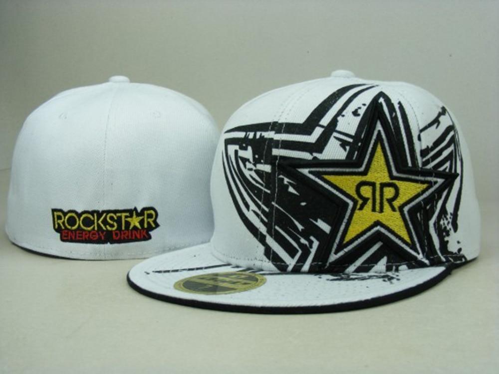 a240fa95 Fitted Size 7 7 3/8 8 Rockstar Hat Baseball caps bboy Hip Hop cap Sports  Snapbacks Flat summer style hats for men & women gorras-in Baseball Caps  from ...