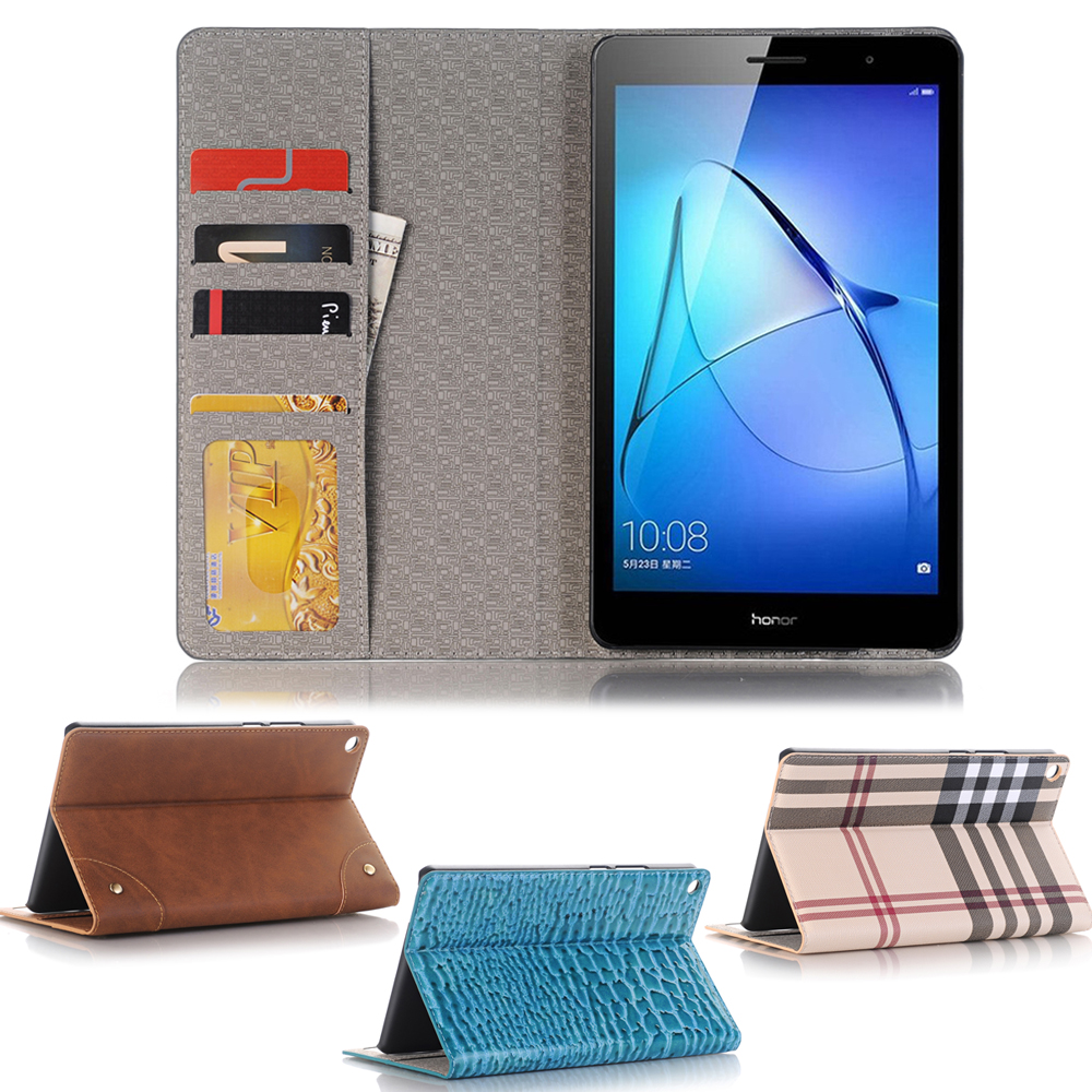 Business Leather Case For Huawei MediaPad T3 8.0 KOB-L09 KOB-W09 8.0 inch Tablet Support stand Cover with Card Solt + Gift for huawei mediapad t3 7 0 wifi case soft silicone case cover for huawei mediapad t3 7 0 bg2 w09 7 inch tablet pc gifts