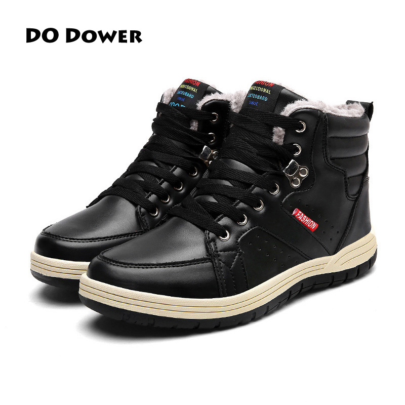 2017 New Winter High Top Comfortable Boots Warm Plush Sneakers Mujer Warm Running Shoes For Men Cheap Sale Sneakers Zapatillas winter warm shoes mens high top hiking shoes athletics outdoor plush ankle boots men sports shoes comfortable climbing sneakers