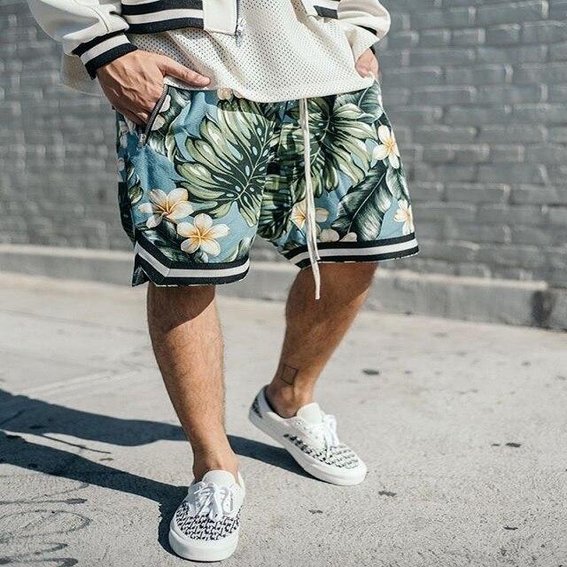 569d785dc66 2018 ss printing Shorts Men Hip Hop FOG Kanye harajuku Casual Justin Bieber  Zipper Skate Mesh Retro Shorts women trouser