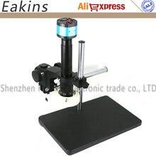 Buy online Full set 2 in1 2.0MP VGA/AV Digital Industry Microscope Camera set kit+300X C-Mount Lens+56 LED ring Light+Big Boom stand holder