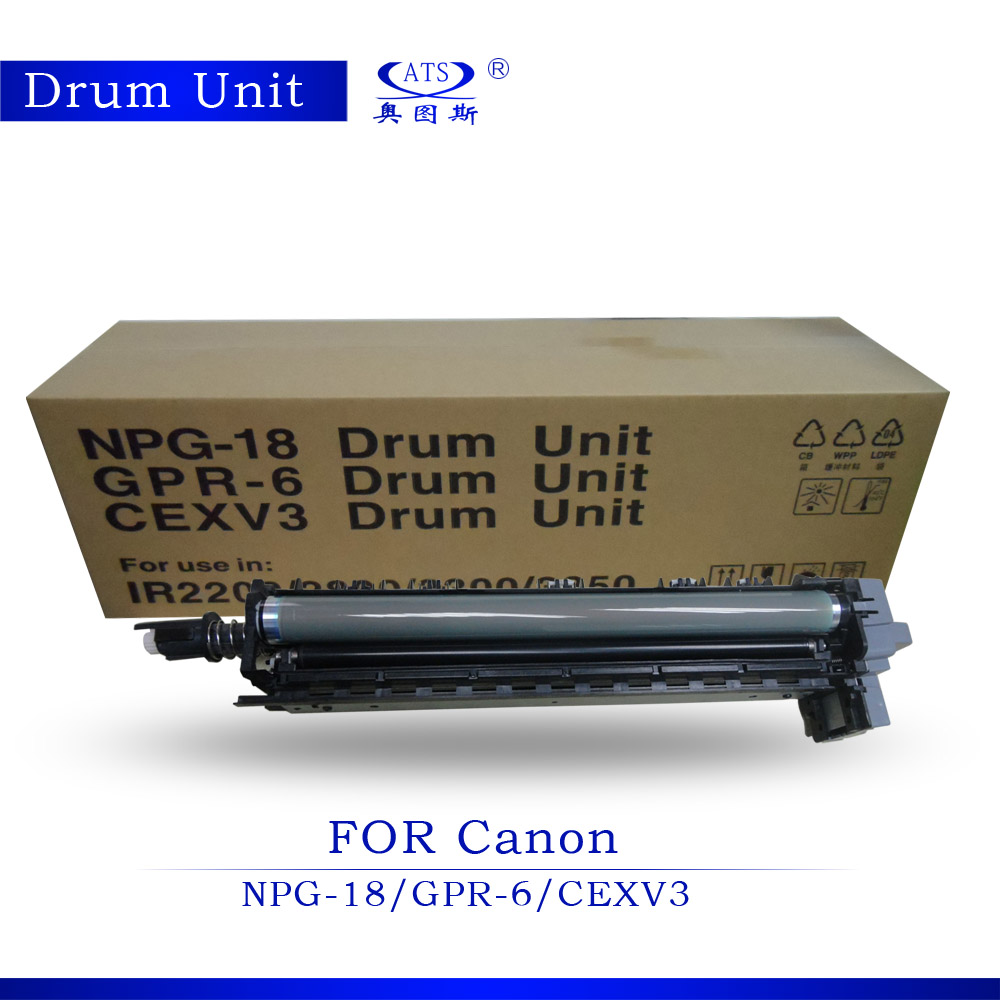 1PCS Photocopy machine Drum Unit Compatible for Canon IR2200 IR2800 IR3300 3350 GPR-6 NPG-18 C-EXV3 Copier Parts rd ffcirc3100fu original fuser film unit for canon image runner ir c3100 3100 2570 npg23 gpr13 npg 23 gpr 13 npg 23 gpr 13
