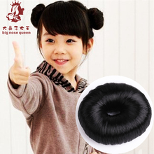 10g Child Fake Hair Bun Donut Maker Hair Roller Ring Hairagami Updo Headwear Hairpin Styling Tool Hairstyle Makeover Black Brown