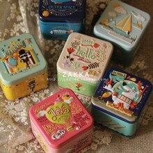 Exquisite 3D Cartoon Tin Box Biscuit /Tea leaf Sundries Container Case Metal Customizable Wholesale Child Gift Box Square
