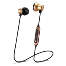 Wireless Earphone Sport Running Splash Proof Sweatproof Magnetic Absorption Neckband In-Ear CSR4.1 Bluetooth