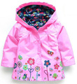 2017 New Children's Clothing Windproof Coat Girl Lovely Flowers Rain Ski-wear, Child Hooded Jacket Kids Clothes Sets Ropa Mujer