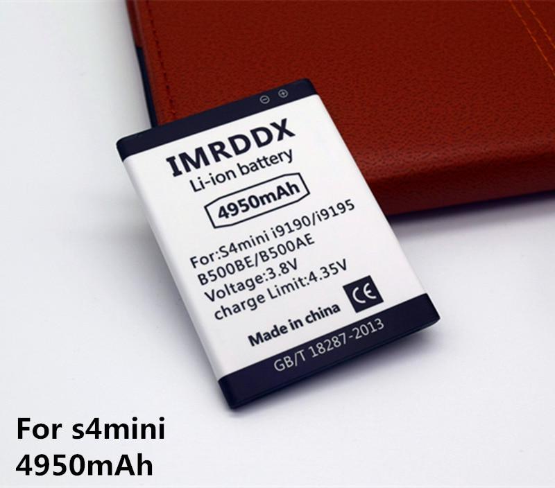 IMRDDX Neue B500BE B500AE 4950 mAh Für Samsung galaxy S4 Mini batterie i9190 I9198 I9192 i9195 s4mini/für samsung mini s4 batterie