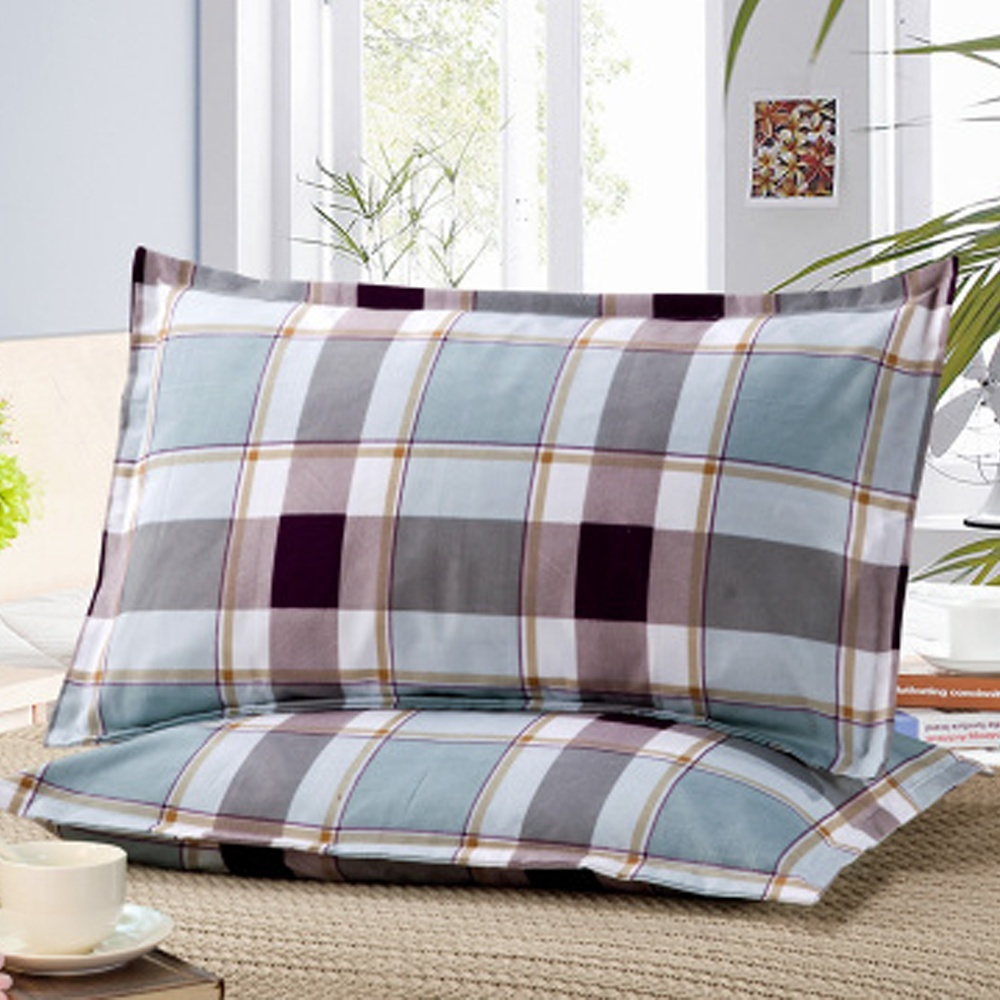 1 Piece 48*74cm Rectangle Cotton Throw Pillow Case Super Soft Pillowcases Washable Home Bed Adornment Pillowcase 301-0822