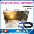 20 шт. 25 X 25 дюйм(ов) P5 открытый из светодиодов видео экран прокат алюминиевого из светодиодов панели P5 шкаф с 1 шт. бесплатная LINSN TS802D отправитель