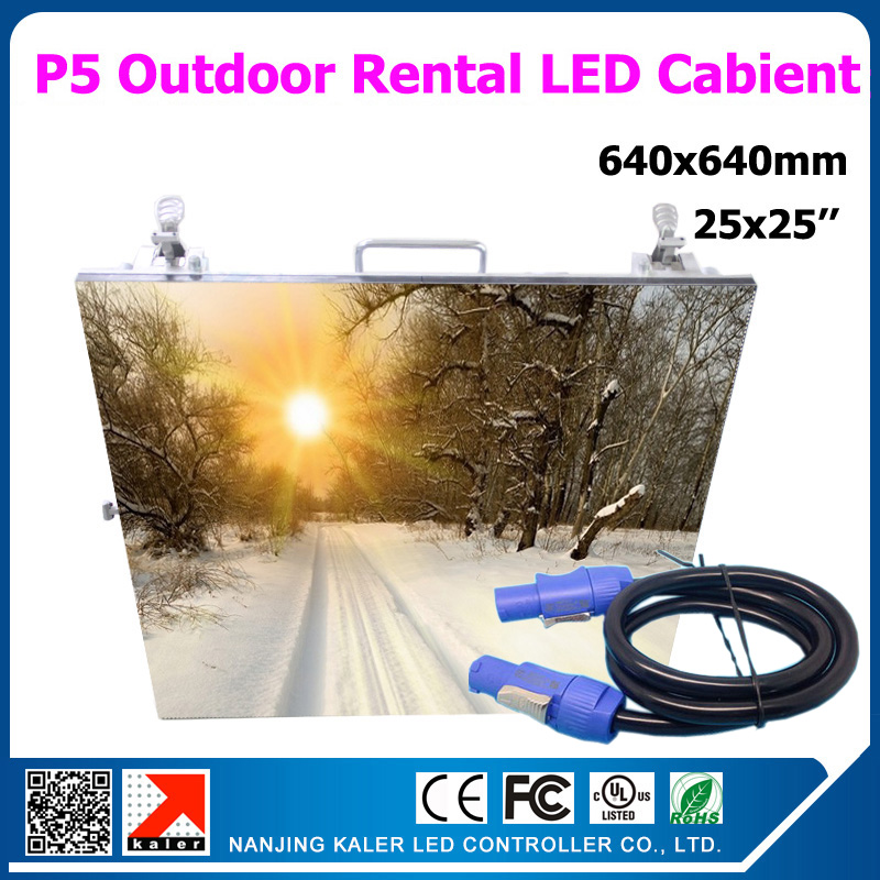 TEEHO 20pcs 25X25 Inches P5 Outdoor Led Video Screen Rental Aluminum Led Display Panel P5 Cabinet With 1pcs TS802D Sender Screen