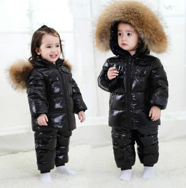 girls boys warm down 90% goose clothing winter jacket pants set for girl children and appropriate down jackets 90 160 down jackets for children boys