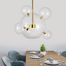 Nordic Personality Bubble Ball Glass Pendant Lamp Hanging Light Designer Suspended lighting fixtures living room bedroom