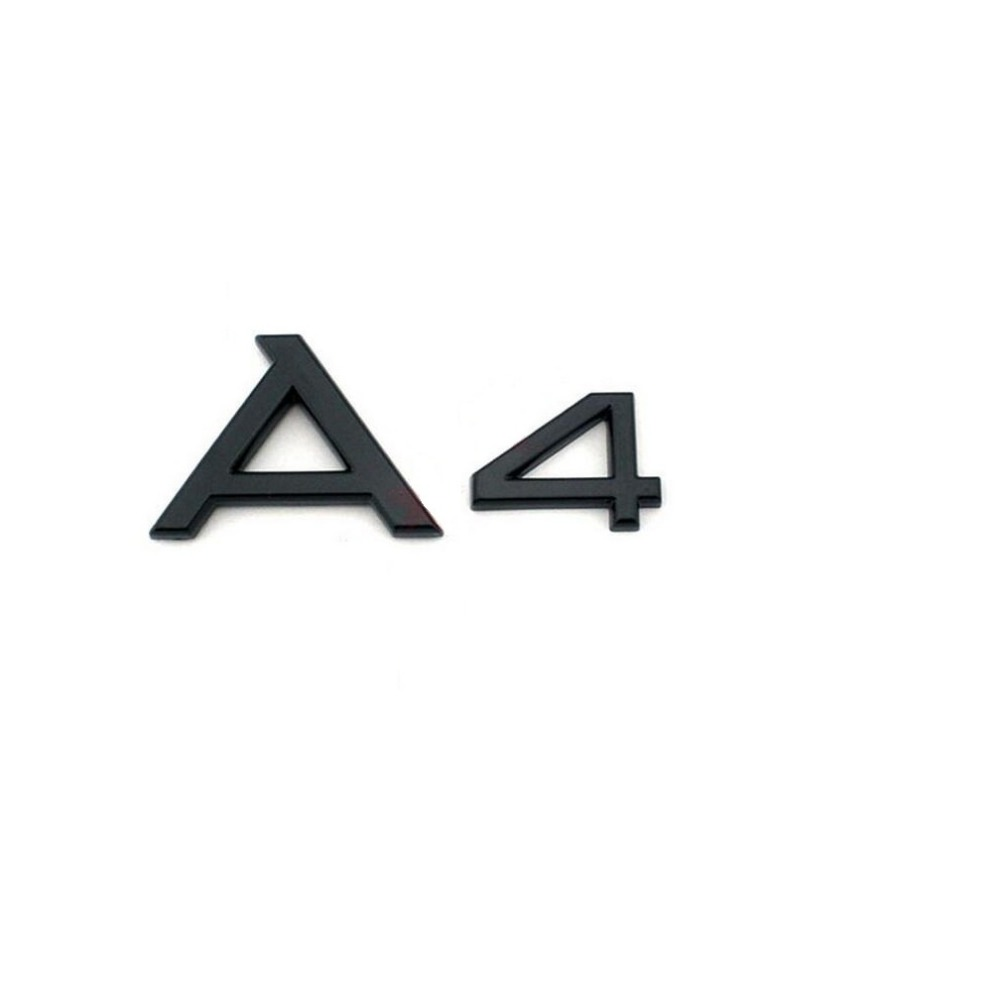 """Gloss Black Glossy Black """" A 4 A4L """" ABS Trunk Rear Number"""