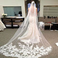 New 2017 High Quality Bridal Wedding Veil 3 Meters Long Trailing Soft  Veils Wedding Accessories