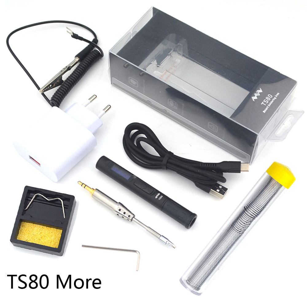 Mini TS80 Portable Digital Electric Soldering Iron TS B02 D25 Solder Tip QC3 0 Quick Charger