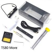 Mini TS80 Portable Digital Electric Soldering Iron TS B02 D25 Solder Tip QC3.0 Quick Charger Kit Adjustable Temperature Type C