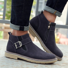 Spring/autumn adult genuine leather boots men casual shoes rubber mens