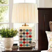 Mediterranean Fashion Creative Shell Table Light Modern Minimalist Bedroom Bedside Lamp Office Table Lamp With Crystal