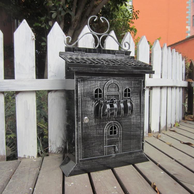 Европейский церковь почтовый ящик Южной Америки дома почтового ящика письмо газета журнал металлическая коробка Бесплатная доставка