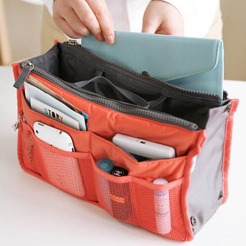 Multi Colors Bag In Bag Makeup Handbag Organizer Insert Handbag Multi Functional Women Cosmetic Travel Bags